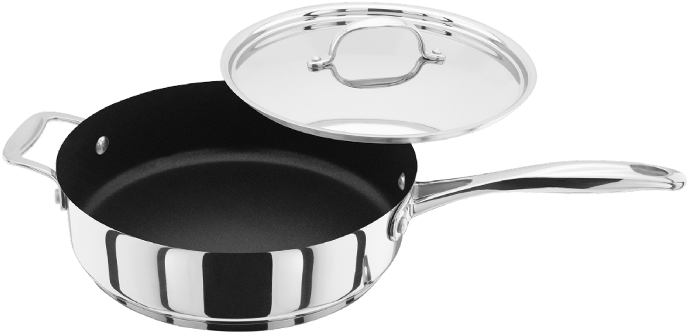 Stellar 7000 Stainless Steel Non-Stick Saute Pan